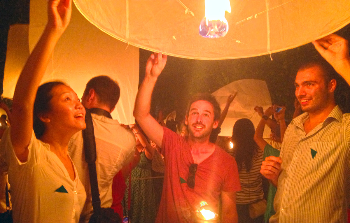 Yi Peng Floating Lantern Festival in Chiang Mai, Thailand