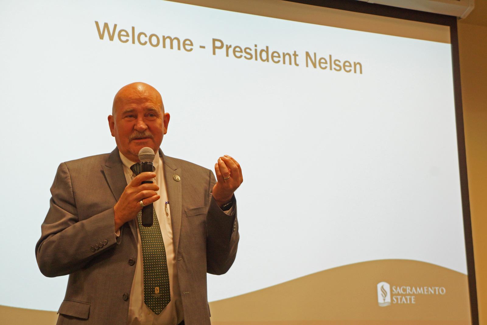 Sac State President Robert Nelsen
